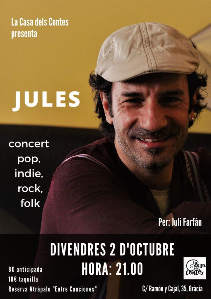 Jules Concert La Casa dels Contes 2 d'Octubre 2020